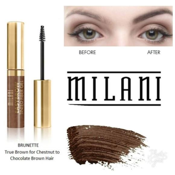 Milani Makeup Easybrow Tinted Fiber Gel Brunette Poshmark